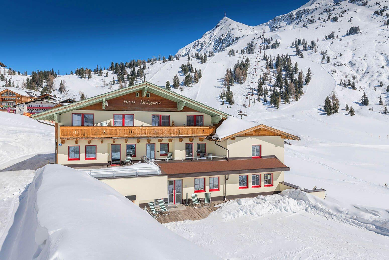 Toplage des Apparthotels Kirchgasser in Obertauern