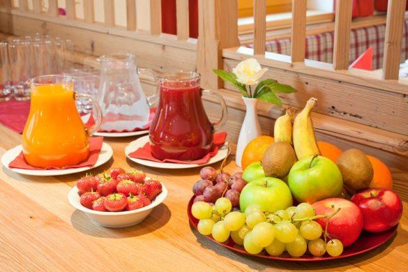 Frühstücksbuffet im Apparthotel Kirchgasser in Obertauern